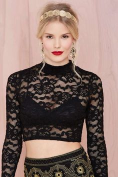 Blackout Lace Crop Top | Shop Shop All at Nasty Gal