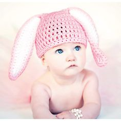 Mary Maxim - Easter Bunny Hat - Crochet these adorable floppy ears for your little honey bunny.