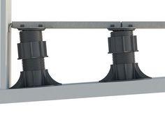 ^^ Modular system for raised floors SE – ETERNO. = Modular system per … Decks, Back Garden Landscaping, Paver Deck, Terrace Floor, Paving Design, Deck Construction, Patio Flooring, Pedestal, Roof Deck