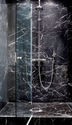 [ Tile Bathroom Black Marble Subway And White Decorating Ideas Pictures ] - Best Free Home Design Idea & Inspiration Black Marble Tile, Black Marble Bathroom, Stone Bathroom, Master Bathroom, Marble Bathrooms, Marble Tiles, Dream Bathrooms, Beautiful Bathrooms, Bidet Wc