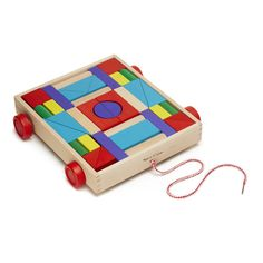 Melissa & Doug Unit Block on Wheels