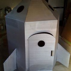 How to build a cardboard Rocket ship | Get a FREE Refrigerator Box from Lowe's or Home Depot and make this awesome ship with your kids!