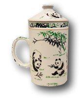 Keraaminen teekuppi suodattimella, Panda