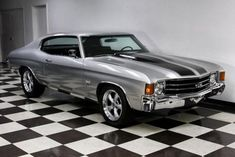 $29,900 AutoTrader Classics - 1972 Chevrolet Chevelle Silver 8 Cylinder Automatic 2 wheel drive | Muscle & Pony Cars | Des Moines, IA #classiccarschevroletchevelle