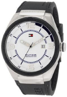 Tommy Hilfiger  Men's 1790806 Sport Grey Silicon and Stainless Steel Watch
