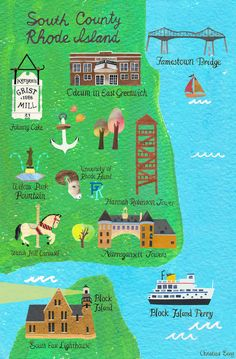 Rhode Island City Map