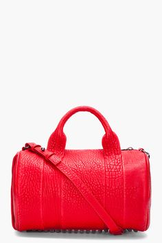 Alexander Wang Red Rocco Mini Duffle Bag
