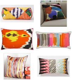 Any/ALL of these pillows on a really trad couch or my bed - you know, which ever.
