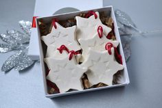6 Miniature Snowflake Christmas Ornaments- Gift Boxed and Ready to Give