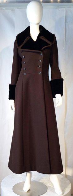 Military Style Maxi Coat 1970s