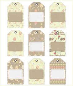 A set of free printables composed of journaling cards in two sizes 3x4 and 6x4 inches with matching gift tags and digital tape strips, labels and ribbons.