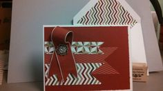 Made my first envelope with my Stampin up envelope maker. Love how easy it is!!