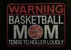 Rhinestone Iron On Basketball Mom Rhinestone by BlingMeBaby. , via Etsy.