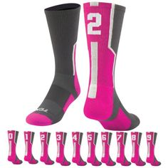 Worldwide Sport Supply, Inc.'s online shop offers a variety of wrestling, volleyball & team fitness apparel, shoes & accessories. Volleyball Team, Sport Socks, Crew Socks, Hot Pink, Wrestling, Sports, Shopping, Accessories, Fashion