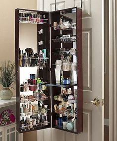 Incroyable MIRROR COSMETIC MAKE UP BEAUTY ORGANIZER OVER DOOR WALL HANG SPACE SAVING  CHERRY
