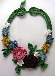 Irish Crochet Necklace by LillySmuul, via Flickr