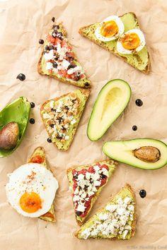 Avocado Toast: 6 Ways – 6 Υγιεινά Σνακ με Αβοκάντο Avocado Recipes, Snack Recipes, Cooking Recipes, Avocado Toast, Food Porn, Healthy Snacks, Healthy Recipes, Breakfast Snacks, My Favorite Food