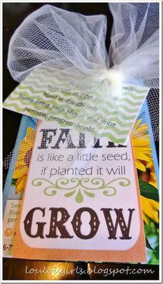 Faith is Like a Little Seed….Activity