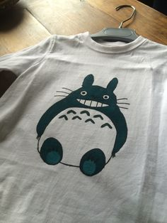 Hand-painted baby t-shirt: Totoro inspiration. First but succesful try! #painted #t-shirt #babyboy