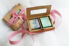 Natural Handmade Soap Gift Set  2 Beautiful cold by OneLeafSoap