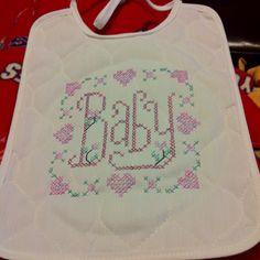 Tobin Baby Bib Cross Stitch