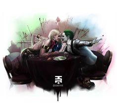 Harley Quinn & Joker by @datrinti