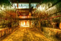 The basement level of an abandoned airplane factory in an old section of Beijing, China. Photo by Trey Ratcliff  #treyratcliff at www.StuckInCustom... - all images Creative Commons Noncommercial.