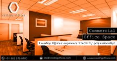 End your search for a professional and productive work setup with commercial office space available at #CreatingOffices..  Feel free to contact us at +91 8826760150 for more details.