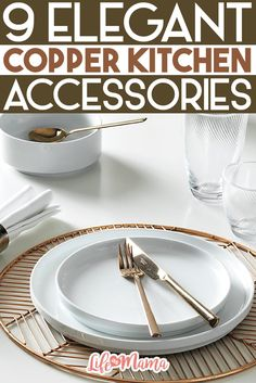 If you want to have a kitchen that is trendy and uses pops of copper to embellish the overall design, these 9 accessories will give your kitchen the glam factor you're looking for.