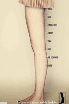 Don't judge her on her skirt length