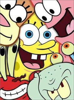Each of the Main Characters in SpongeBob SquarePants Was Inspired by One of the Seven Deadly Sins - Shocking Facts You Never Knew Cartoon Wallpaper Iphone, Cute Disney Wallpaper, Cute Wallpaper Backgrounds, Cute Cartoon Wallpapers, Cute Canvas Paintings, Mini Canvas Art, Spongebob Drawings, Disney Drawings, Cool Art Drawings