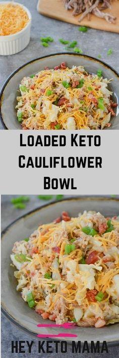 Loaded Keto Cauliflower Bowl