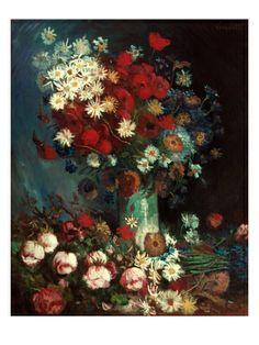 Van Gogh: Still Life, 1886 Giclee Print by Vincent van Gogh, loving dark florals