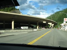 The Interstate is literally over Wallace  Idaho