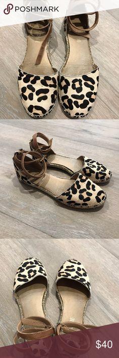 Aldo leopard espadrilles/flats The most comfortable pair of ballet flat/espadrilles you'll ever wear!   Genuine leather footbed.  Pre Loved. ❤️😍 Aldo Shoes Espadrilles