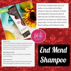 Mend those split ends with our End Mend Shampoo!  Www.perfectlyposh.com/donnastaplescarter