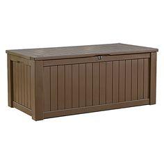 Auflagenboxen  Auflagenbox / Kissenbox Holz XL, Farbe: Transparent Grau ...