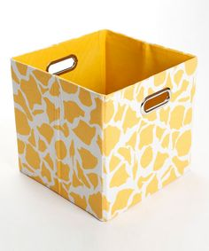 Take a look at this Rusty Giraffe Folding Storage Bin by GiggleDots on #zulily today!