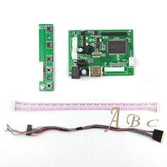 VGA Driver Controller Board Module + 40p Lvds Cable Kits for LP173WD1 - TLA1/TLA2/TLC1/TLD1/TLN1 1600x900 2ch 6 bit LCD Display#lcd controller board kit