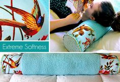 Teen Pretty Pack: Decorative Softee Bolster Pillow  Add wrap of fabric to current bolsters for easy wash and dry instead of doing the whole cover.