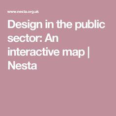 Design in the public sector: An interactive map | Nesta