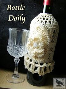 Crochet Bottle Doily Pattern