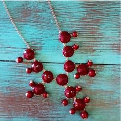 Burgundy/Maroon Bubble Necklace It color for fall! Perfect for game days!  Accessories