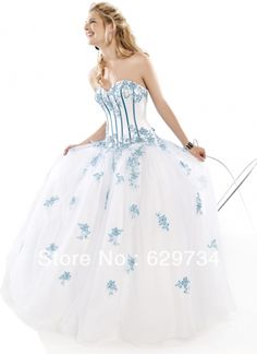 ball gowns for masquerade ball | Masquerade-Ball-Gowns-Custom-Made2013-White-Blue-Quinceanera-Dresses ...