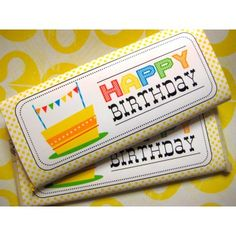 FREE Happy Birthday Candy Bar Wrapper