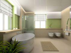 La salle de bain et la cuisine ont leur plan en bois (bambou, pin brut traité) ou en carrelage type ardoise avec vasque en pierre reconstituée ronde ou carrée.