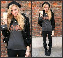 Black Coat, Mini Kelly Bag, Acdc Tshirt, Black Coat