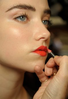 A touch of lip liner for long-lasting color