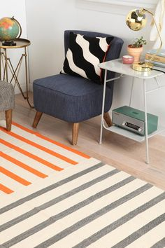 Assembly Home Mixed-Stripe Rug, Urban Outfitters - super affordable