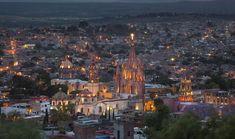 Sun going down in San Miguel de Allende http://www.journeymexico.com/hotel/rosewood-san-miguel-allende
